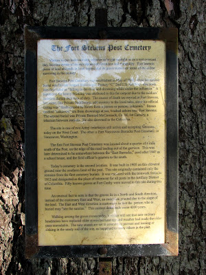 Informational Notice at the Military Cemetery, Fort Stevens, Oregon