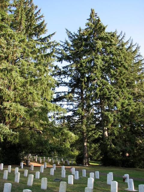 Military Cemetery at Fort Stevens, Oregon