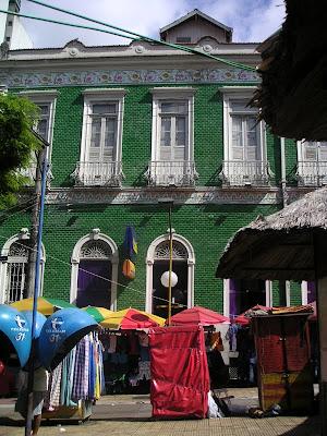 Building bordering the central market, Manaus, Brazil