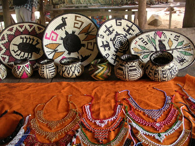 Baskets of the Embera people near Panama City