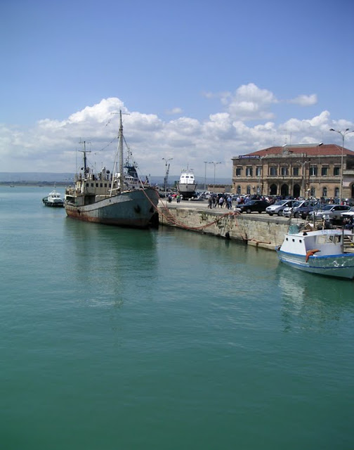 The Harbor at Syracuse, Sicily, Italy (Siracusa)
