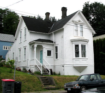 Cute White House on Bond Street, Astoria, Oregon