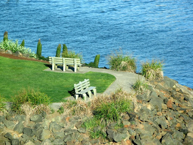 Park and Benches along the Columbia River
