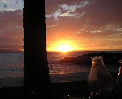 Sunset and Lamp, Puerto Vallarta