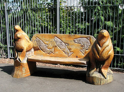 Sea Lion and Salmon Bench