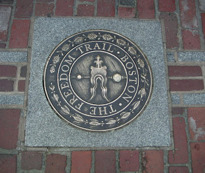 Freedom Trail Marker, Boston - Paul Revere's House