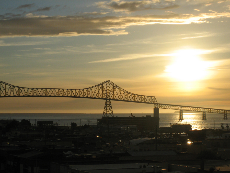 Contest photo of Astoria-Megler Bridge in Sunset by Mary Padgett
