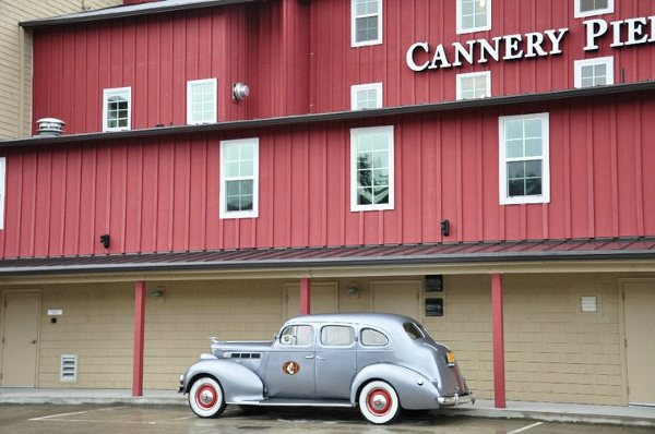 Car at the Cannery Pier Hotel