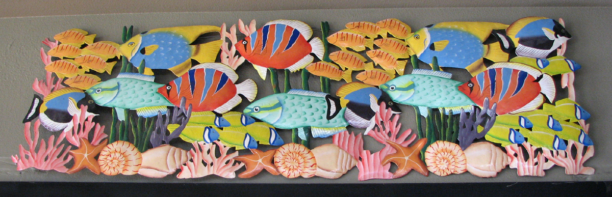 Bend Fish Company, Painted Wooden Fish