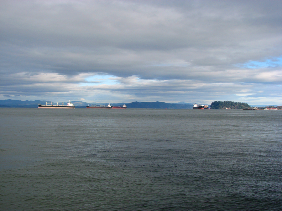 Ships on the Columbia River, Astoria