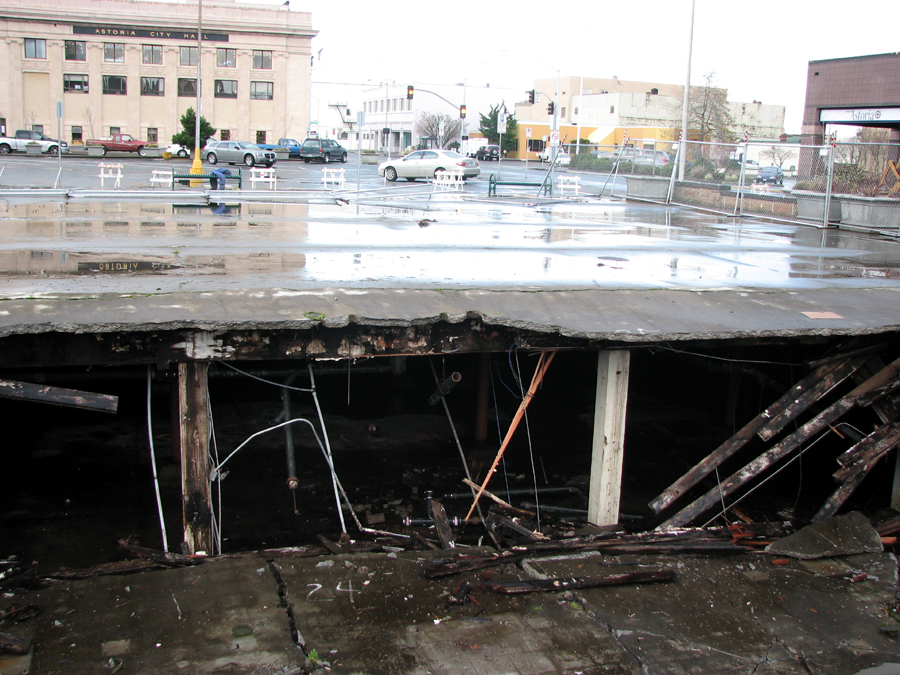 A Hole in the Old Safeway Parking Lot