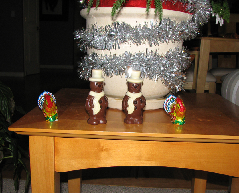 Chocolate Snowmen and Chocolate Turkeys