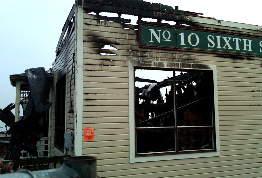 Number 10 Sixth Street after the Fire