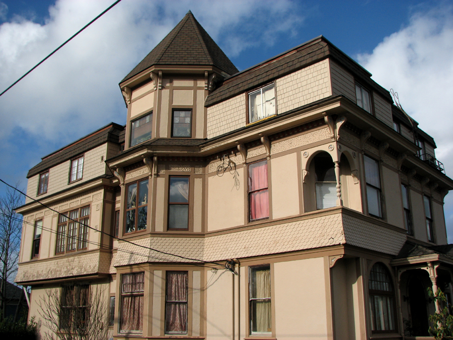 A grand Victorian House on Grand Avenue and 14th Streets, Astoria, Oregon