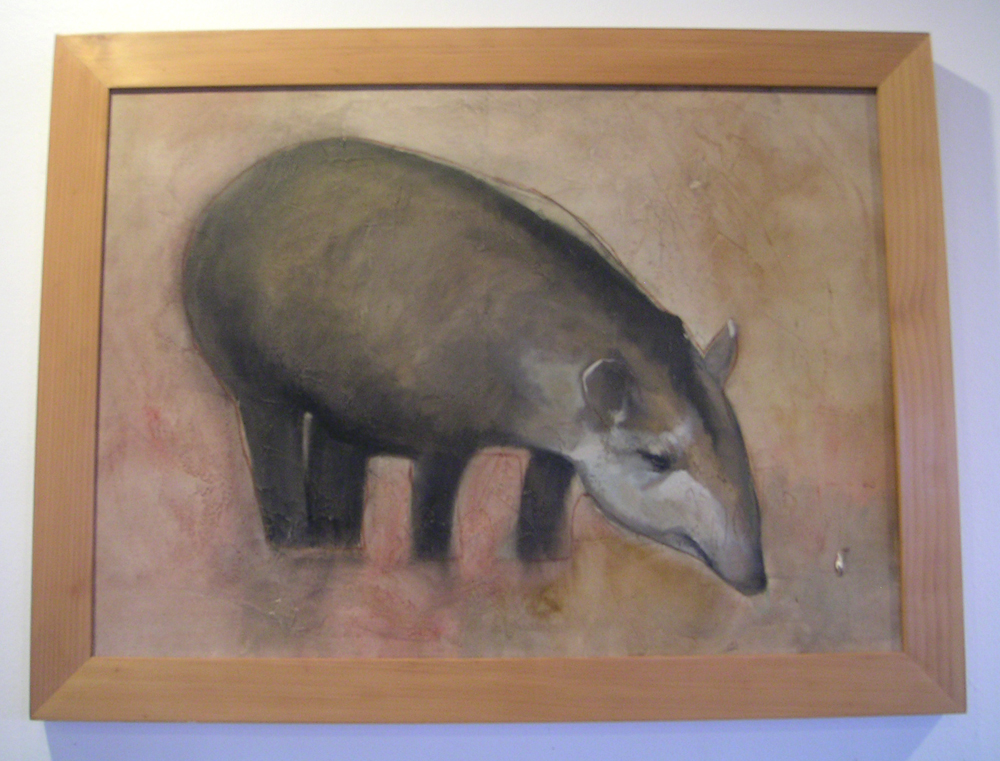 Lowland tapir drawing or painting at a hotel in Manaus, Brazil