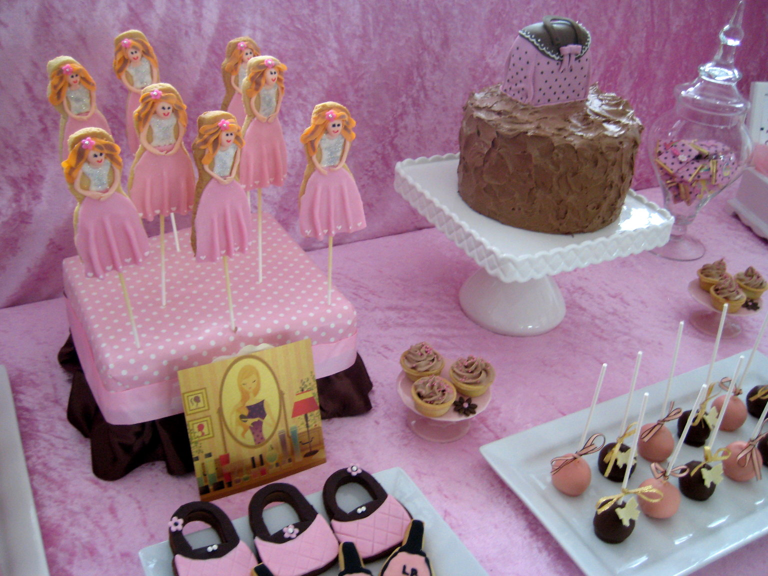 Bubble and Sweet Pink Glamour Girl Birthday Party Real Party