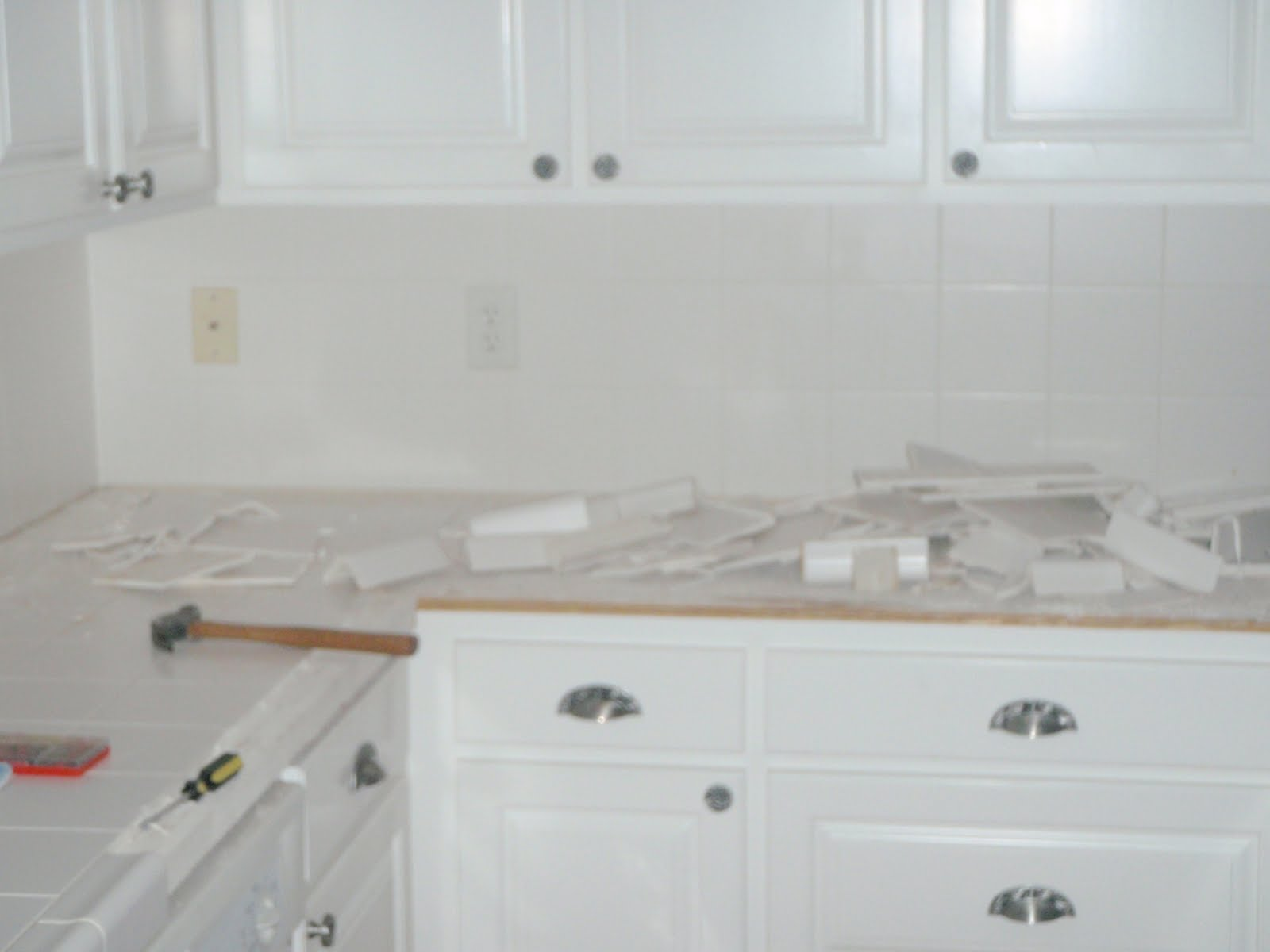 The Curious Life of the Campbells: Kitchen Updating / White Tile=BAD