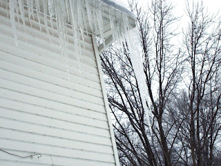 three feet long icicles