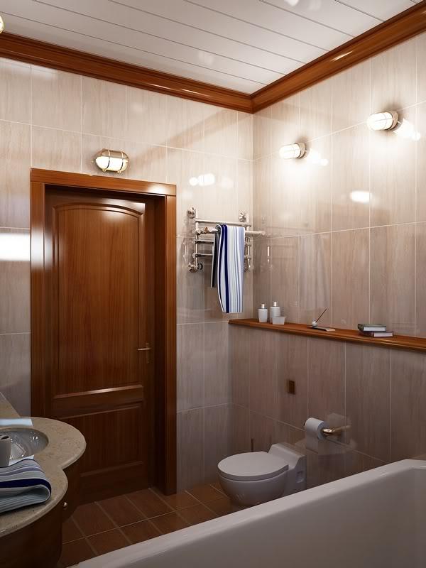 Дизайн ванной комнаты в панельном доме без
