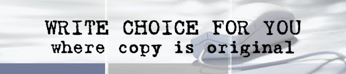 WRITE CHOICE FOR YOU