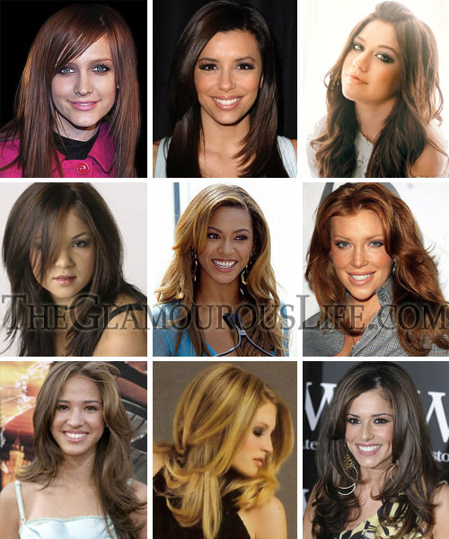Hair styles Suit Your Round Face Long straight hair styles » Long Face