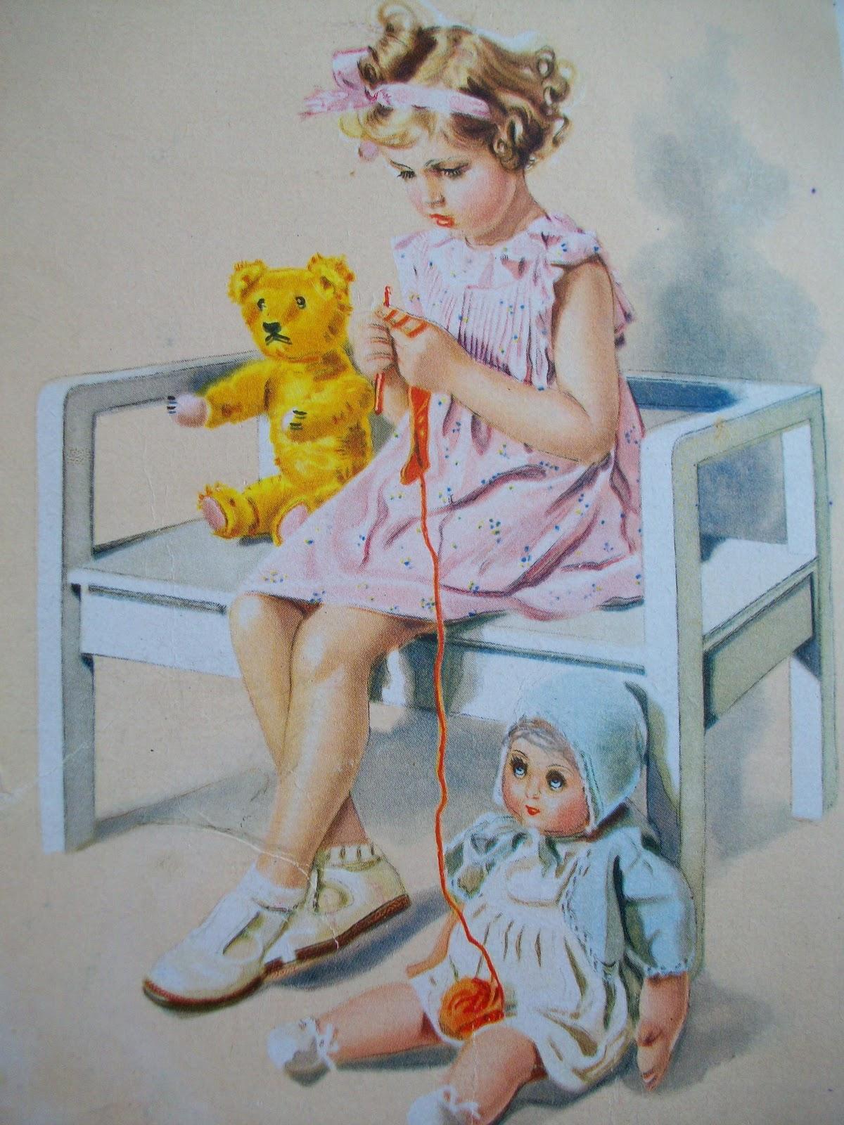 Немецкие открытки с куклами 72
