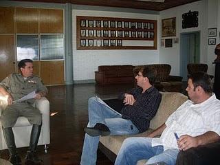 Reunião com o Coronel Gonçalves