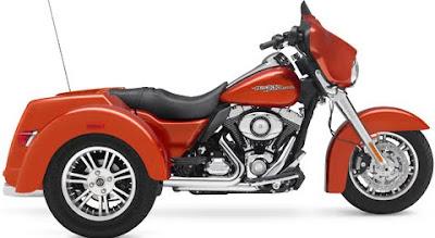MOTORCYCLE HARLEY DAVIDSON FLHXXX STREET GLIDE TRIKE 2011