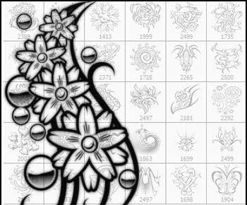 DESIGN GRAFFITI BRUSHES-DYNAMIC ARROW And DIGITAL ALPHABET