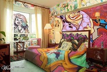 STYLE ART BEDROOM GRAFFITI DESIGN