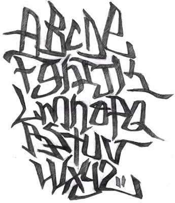 Graffiti, Alphabet, A - Z, Kanji, Black, Style, Graffiti Alphabet, A - Z Kanji Black Style, Graffiti Alphabet A - Z, Alphabet A - Z