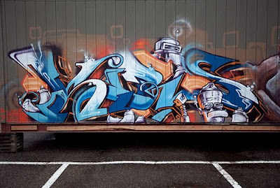 Amazing, Design, Graffiti, Freestyle, by Nate and Estria