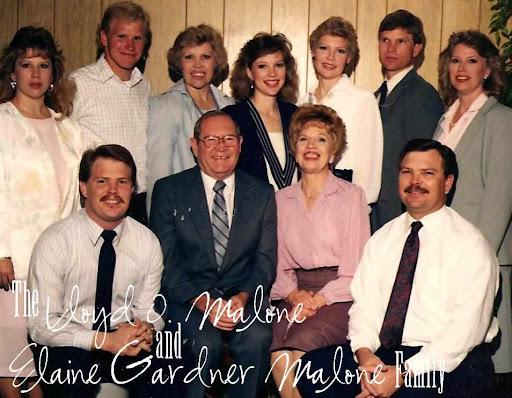 Lloyd O. Malone & Elaine Gardner Malone Family