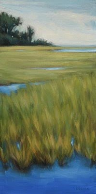 Outer Banks Marsh Original Oil Painting by Kerri Settle