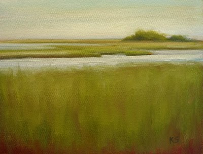 Saltwater Marsh oil painting by Kerri Settle