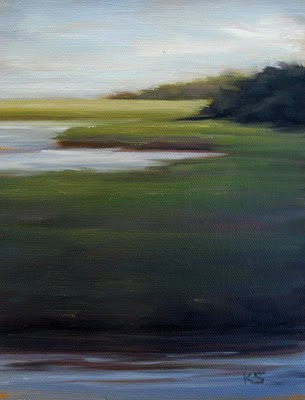 Marsh oil painting by Kerri Settle