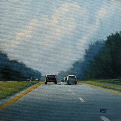 Road Trip Oil Painting by Kerri Settle