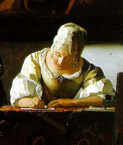 Girl Writing A Letter William Carpenter