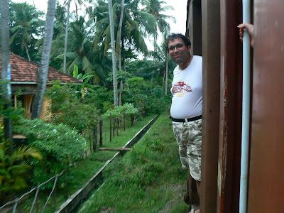 Imagini Sri Lanka: trenui de Galle