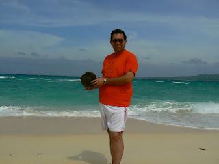 nuca de cocos pe plaja