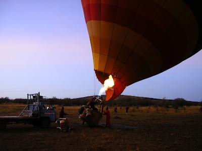 Safari Kenya: gata de zbor cu balonul