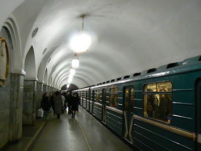 Imagini Rusia: statia metro Taganskaya Moscova