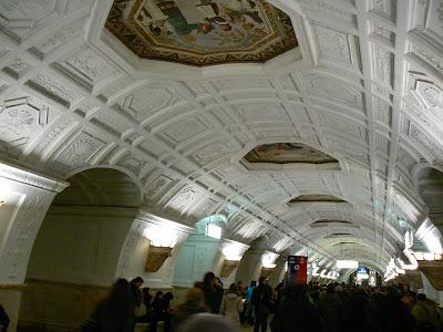 Atractii turistice Moscova: statia metro Belaruskaya