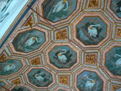 Obiective turistice Portugalia: camera lebedelor Palacio Nacional Sintra