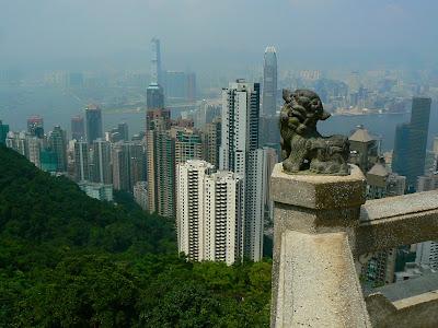 Obiective turistice Hong Kong: panorama de pe Victoria Peak