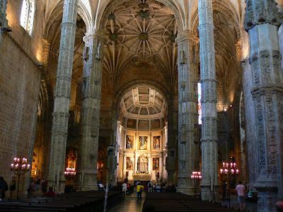 Imagini Portugalia: manastirea Jeronimos interior