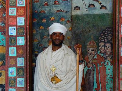 Obiective turistice Etiopia: preot la Narga Sellasie