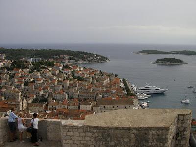 Imagini Croatia: panorma Hvar de pe fortareata Spanjol