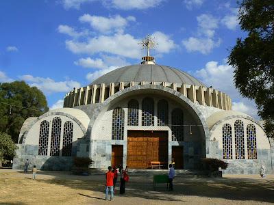 Imagini Etiopia: Sf. Maria din Sion, cladirea noua, Aksum