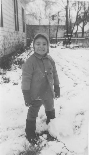 1950.  Grandpa Dysart in the snow.
